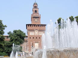 Visit to Castle Sforza, entrance and fountain , Valarie34 - August 2013