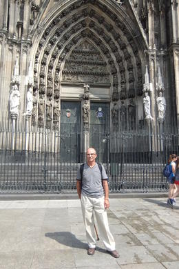 Mario in front of Cologne Cathedral on Cologne Day Trip from Frankfurt , Mario S - July 2014