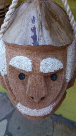 this is just great, sculpted coconut filled with the Brazilian alcoholic drink, cachaça., Lucia - February 2013