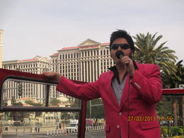 On Las Vegas boulevard being entertained by Elvis , Pamela B - April 2013