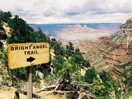 The trail that some of our group hiked for a short amount of time at the Grand Canyon. , katiefittler - July 2015