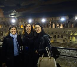 Photo of Rome Viator VIP: Exclusive Rome Rooftop Dinner and Colosseum Night Tour Including Underground Chambers Inside the Colosseum at night