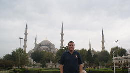 me outside the Blue Mosque in Istanbul , Mathew S - January 2011