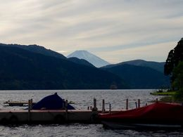 view of mount Fuji from lake Ashi , John T - May 2015