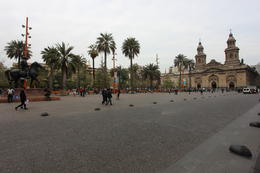 Panoramic view of the Plaza Mayor in Santiago, Bandit - October 2013