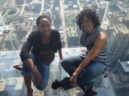 I'm enjoying my birthday with my family, and I took a moment to take a picture with my daughter out on the skydeck. We had a great time!!! , Sheila E - June 2014