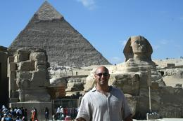 Me in front of the Sphinx, Heath A - December 2008