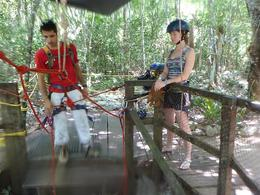 Photo of Cancun 4-in-1 Tulum Adventure: Zipline, Cavern Rappel, Cave Snorkel and Skycycle 3