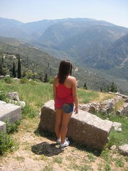 Photo of Athens Delphi Day Trip from Athens Admiring the view - Athens Day Trip