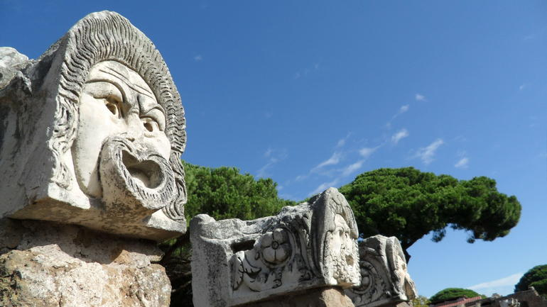 cool statue heads - Rome