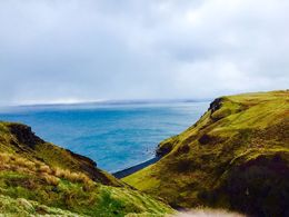 Photo of Edinburgh 5-Day Highland Explorer and Isle of Skye Small Group Tour from Edinburgh Getting blown of the cliff!