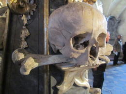 A skull in the Bone Chapel. , Chrissy B - November 2012