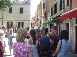 Being guided around the maze of narrow 'streets' along the Canals , john1287 - July 2014
