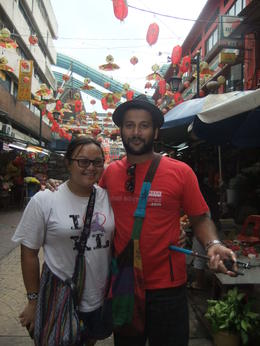 Photo of Kuala Lumpur Small-Group Food Trail Walking Tour in Kuala Lumpur Our tour guides, Charles and Gabby