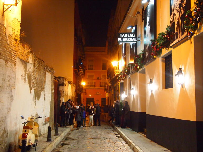 Outside the Flamenco show at Tablao Flamenco El Arenal - Seville