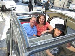 About to embark, looking forward to our private 2CV tour of Paris!, Barrie S - September 2011