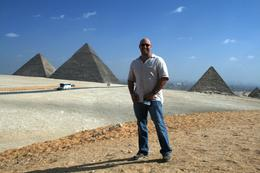 Me with the pyramid in the background., Heath A - December 2008