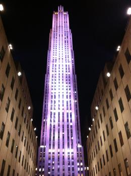 Rockefeller Bldg at night time..STUNNING , Sylvia F - March 2014