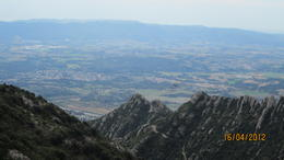 Photo of Barcelona Montserrat and Cava Trail Small Group Day Trip from Barcelona spectacular view of the Cataluyan city below