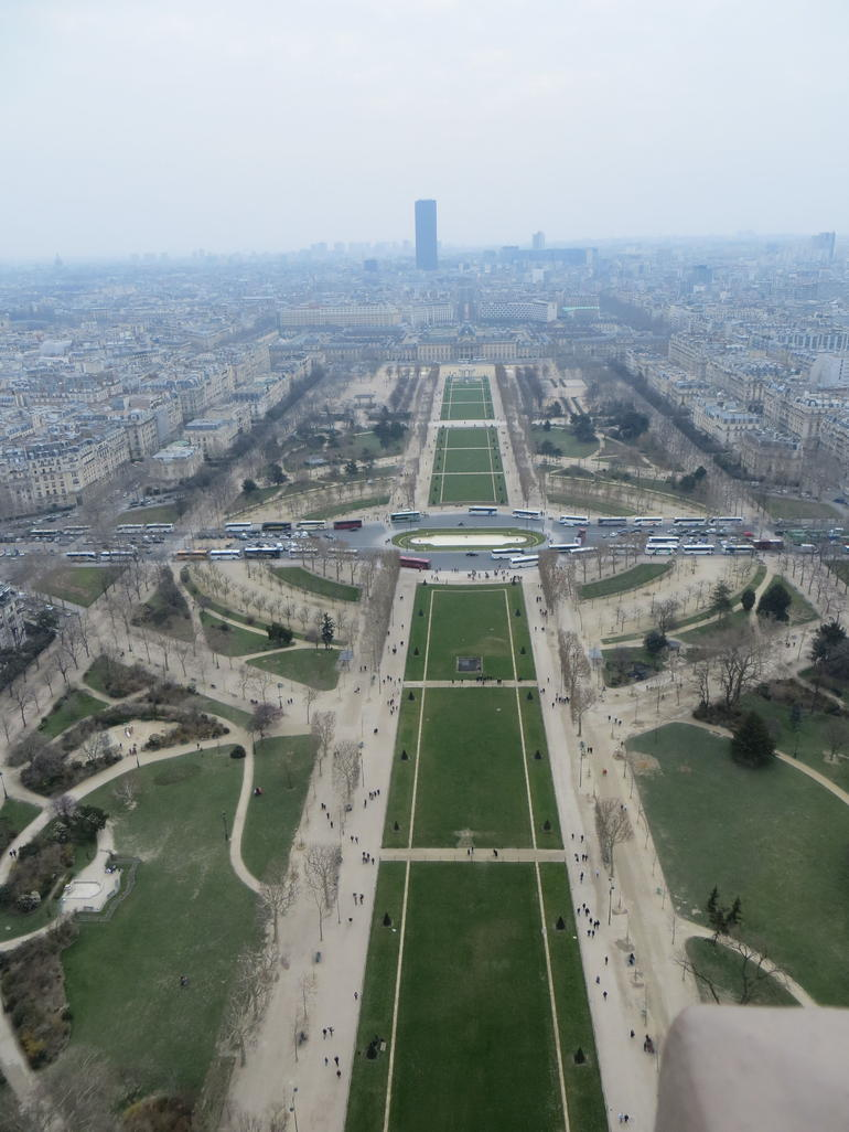 The Champs de Mars from the eiffel tower - Paris