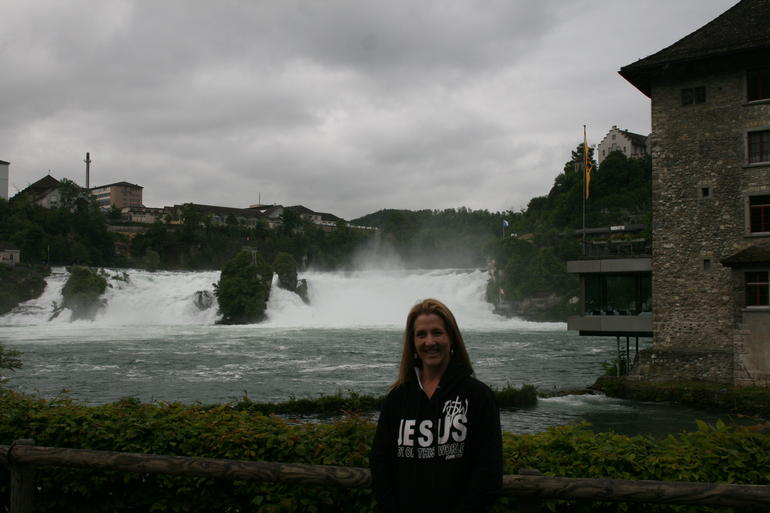 The view of Rhine Falls. - Zurich