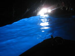 inside blue grotto , jesus b - September 2011