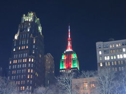 The Empire State Building all lit up for Christmas, Patricia P - July 2015