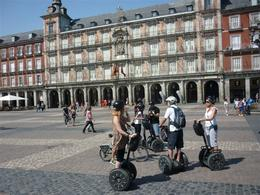 The team take a break in Central Madrid - markets, bullfighting and noe Segway ........ , Adrian R - September 2012