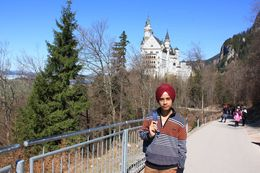 from the side view Neuschwanstein Castle , Tejinder S - April 2015