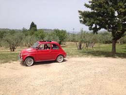 Photo of Florence Self-Drive Vintage Fiat 500 Tour from Florence: Tuscan Wine Experience Paola, our Fiat, in Tuscany