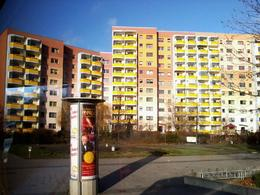 GDR-era apartment blocks in Potsdam , A G - January 2014