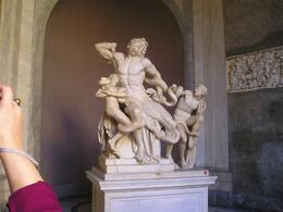 Photo of Rome Skip the Line: Vatican Museums Walking Tour including Sistine Chapel, Raphael's Rooms and St Peter's The Laocoon group statue