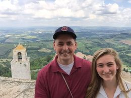 From the top of a tower with Kate. , Paul B - June 2015