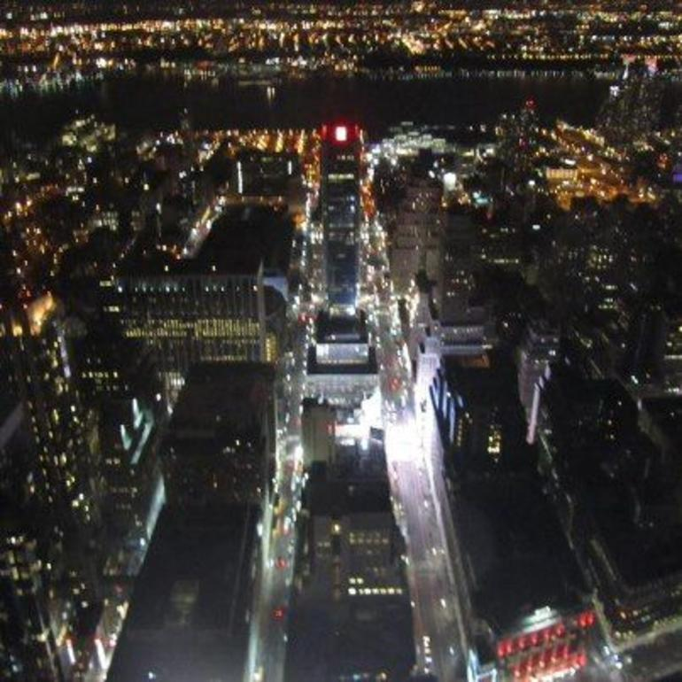 View at night - New York City