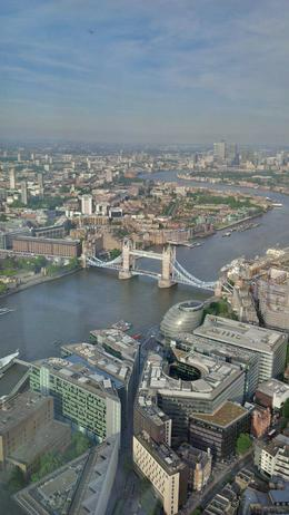 View from the Shard in direction of Tower Bridge. , Robert v - August 2014