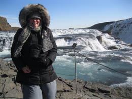 The wind was whipping as I enjoyed the fury of the falls at Gullfoss! This is the perfect place to experience the purity and beauty of nature at her wildest! , Cheryl D - May 2013