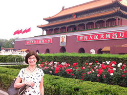 Outside of the Forbidden City., Julie - June 2012