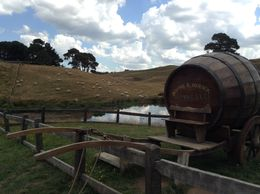 A fine ale barrel and cart with Hobbiton sheep in the background. , Mark C - February 2015