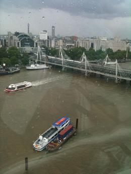 In our capsule overlooking the Thames, Travel Mom - July 2011