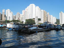 See the contrast of the Highrises and the boat dwellers , Sherrell K - December 2014