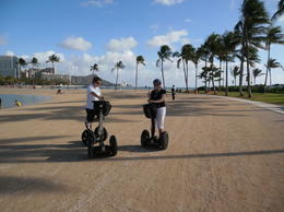 Photo of Oahu Honolulu History and Culture Segway Tour Segways on the Beach!