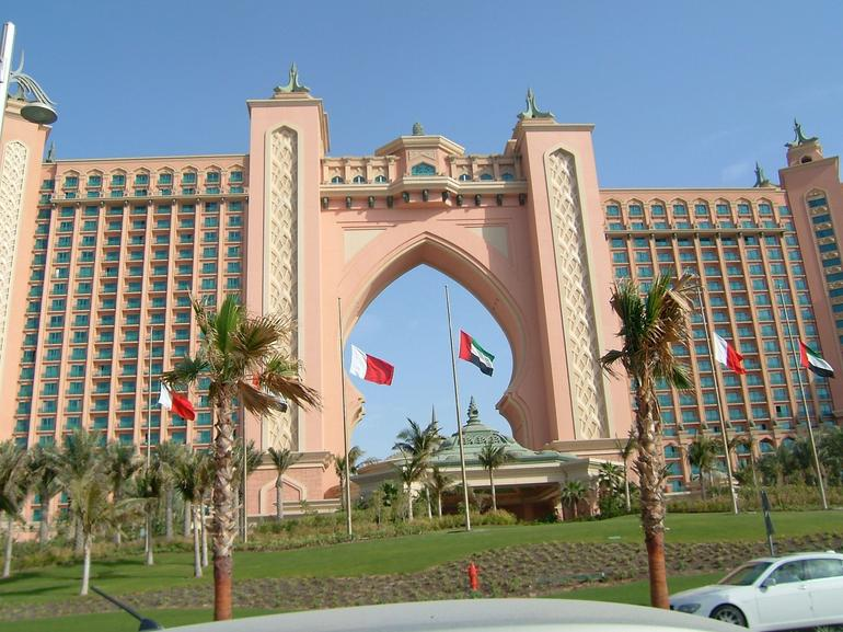 The entrance to a Hotel on the Palm