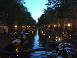 Photo of   Amsterdam Canal by night