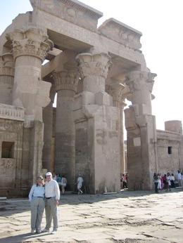 Here we are in front of a temple in Luxor. The guide took us through and explained the various parts and their functions. You get a sense of the size in comparison with a couple of average sized ...  - October 2008