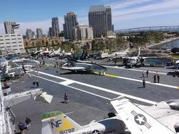 My husband and I were in the tower looking down at the flight deck. , Michael R - April 2014