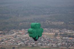 The Shamrock Balloon that was flying the same morning with us, (St. Patrick's Day)., Michael B - March 2010
