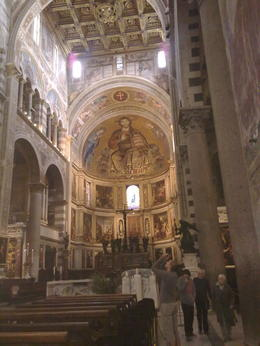Inside is one of Giotto's works! Very beautiful, worth a look! Also check the exact centre point of the church, it will baffle you! , nikki e - May 2011
