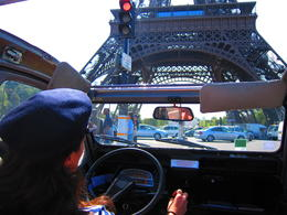 Closer to the Eiffel Tower (realizing how huge it is) and to the crazy traffic, Barrie S - September 2011