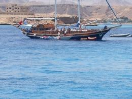 A sail ship you get to work on - the people on this cruise must have needed a swim!, Lisa M - June 2008