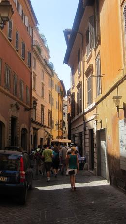 Desirable escape from the heat of the sun into one of the Roman side streets, Danuta K - July 2009